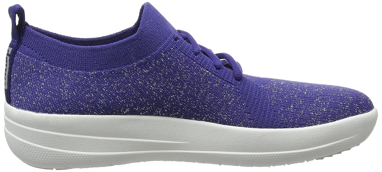 FitFlop Damen F-Sporty Uberknit EU Sneakers-Metallic Sneaker, Anthrazit, 36.5 EU Uberknit Blau (Indian Blau Metallic 613) 58ac2d