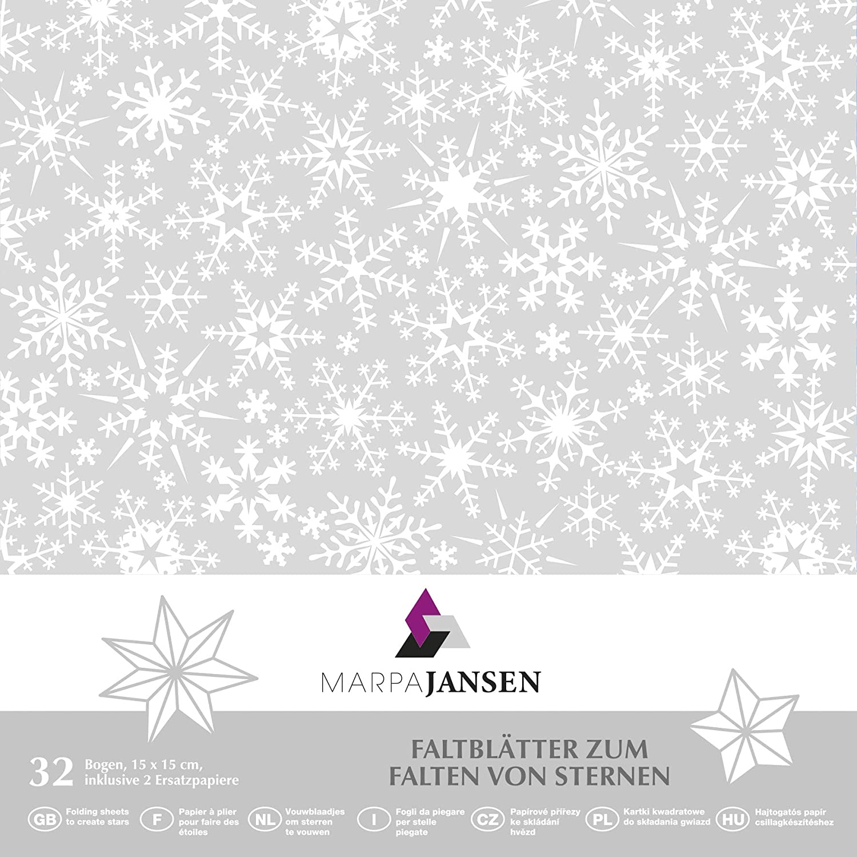 - 5-farbig Sortiert MarpaJansen Faltbl/ätter-Packung Duo-Color 15 x 15 cm, 80 Blatt, 80 g//m/² Origamipapier -