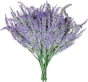 Royal Imports Artificial Lavender Purple Silk Flowers - 12 Single Stems for Bouquet, Home Patio Decoration, Wedding Centerpiece, Wreaths, Floral Arrangements