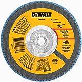"""(5-PK) DEWALT DWA8216H 7"""" X 5/8""""-11 Thread T29 40 GRIT FLAP DISCS"""