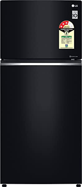 LG 547 L 3 Star Frost-Free Double-Door Refrigerator (GN-C702SGGU, Black Glass, Inverter Linear Compressor) Large Appliances at amazon