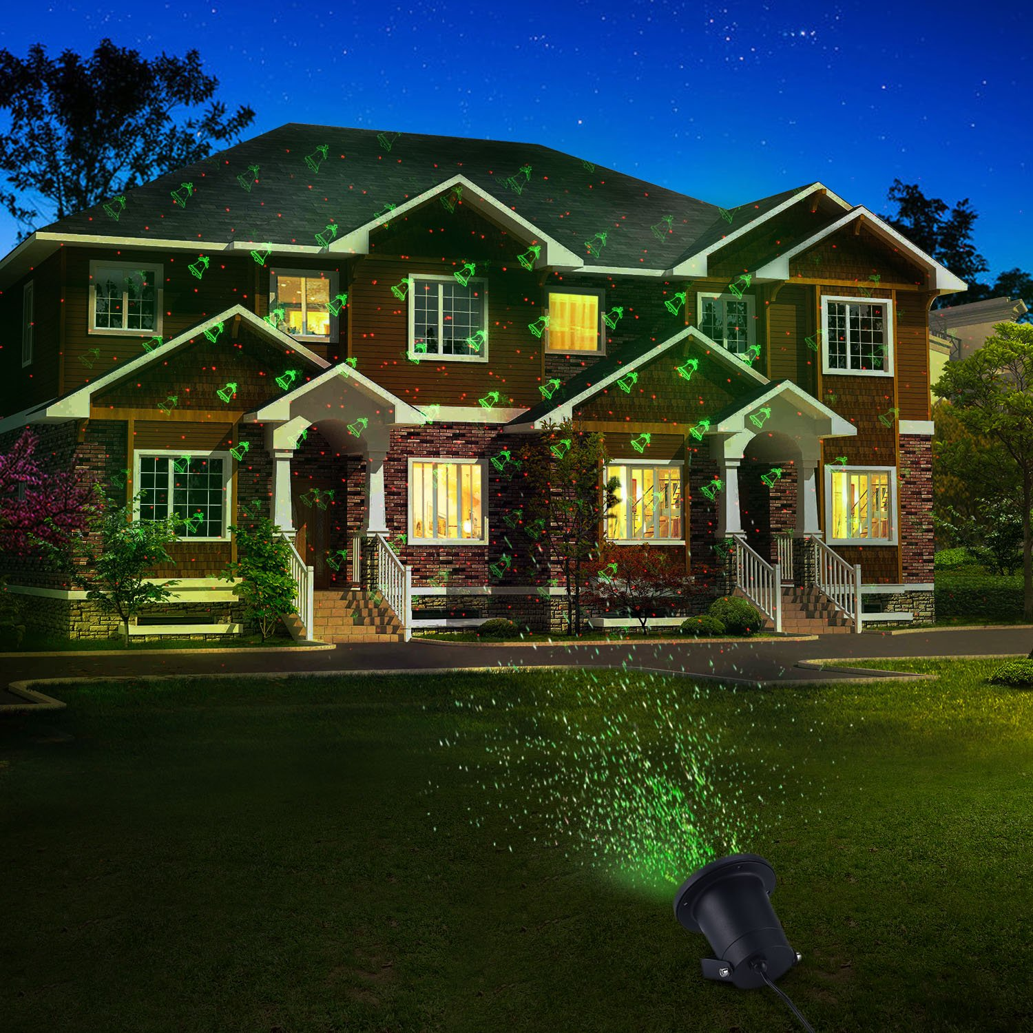 Amazoncom White Snowflake Projector Waterproof Outdoor Christmas Lights Led Laser