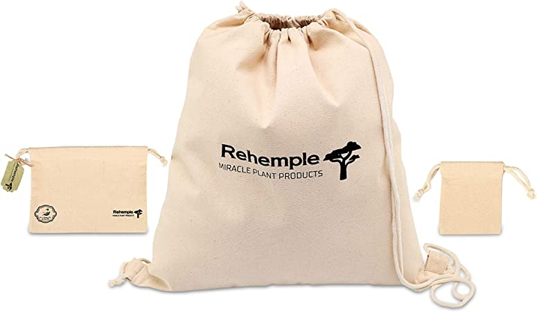 Rehemple Bolsa de algodón reutilizable con cordón para comestibles y productos. Organizador de 100% algodón orgánico con doble tumplina. 50 x 46 cm, lavable, capacidad 35 libras/16 kg Rehemple: Amazon.es: Hogar