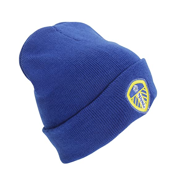 46515eda30f Leeds United Cuff Knitted Hat - Blue  Amazon.co.uk  Sports   Outdoors