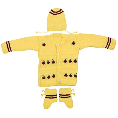 Maple Krafts 100 Wool Hand Knitted Sweater Baby Boys Girls Full