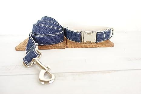 Mew Denim pet dog circled blue rope/dog ring suit,Metal buckles new (