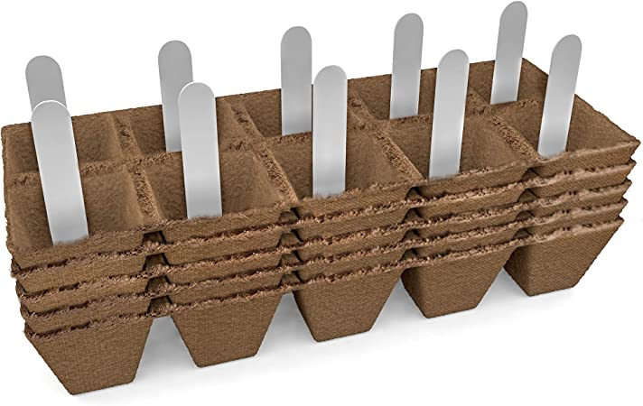 Amazon.com : Seed Starter Peat Pots Kit | Germination Seedling ...