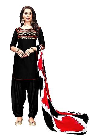 9f89d9a221 Amazon.com: Delisa Patiala Salwar Embroidered Cotton Salwar Kameez Suit  India/Pakistani Dress P: Clothing