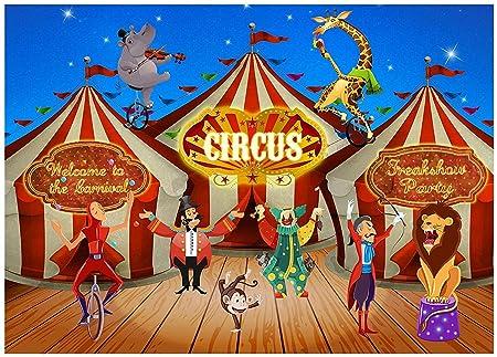 Musykrafties Cartel de circo de carnaval, telón de fondo ...