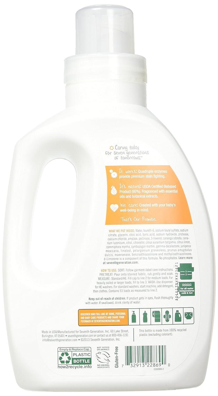 Amazon.com: séptima generación 4 x detergente bebé – 40 oz ...