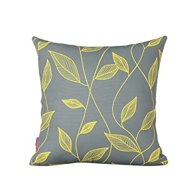 "Christopher Knight Home 307143 Georgia Outdoor Cushion, 17.75"" Square, Cute Leaves, Yellow, Gray, Green : Garden & Outdoor"