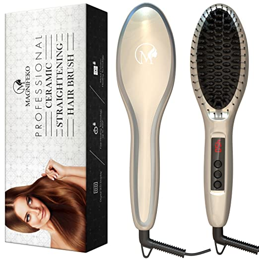 Professional Electric Straightener Brush By Magnifeko
