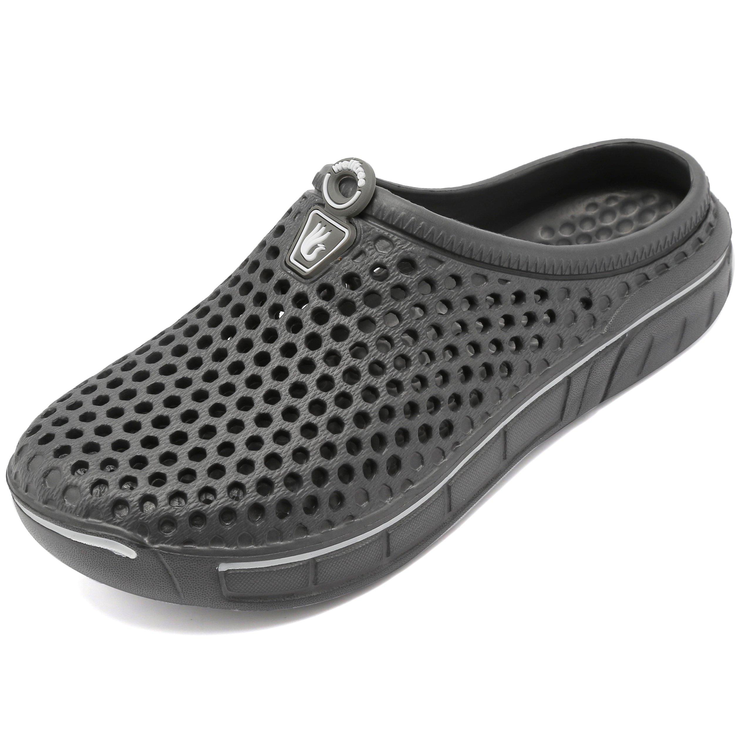 welltree Unisex Women's Men's Garden Clog Shoes Quick Drying Slippers Sandals 11 US Men/13 US Women Grey-2/45