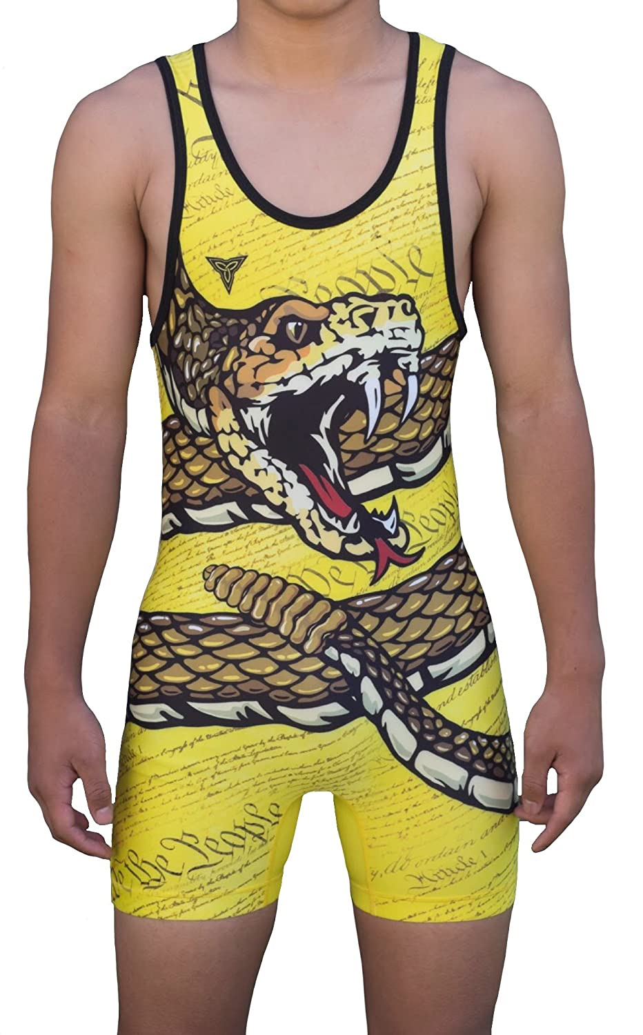 79075652eee26 TRI-TITANS Don't Tread On Me! Folkstyle Wrestling Singlet Youths and Adult  Mens