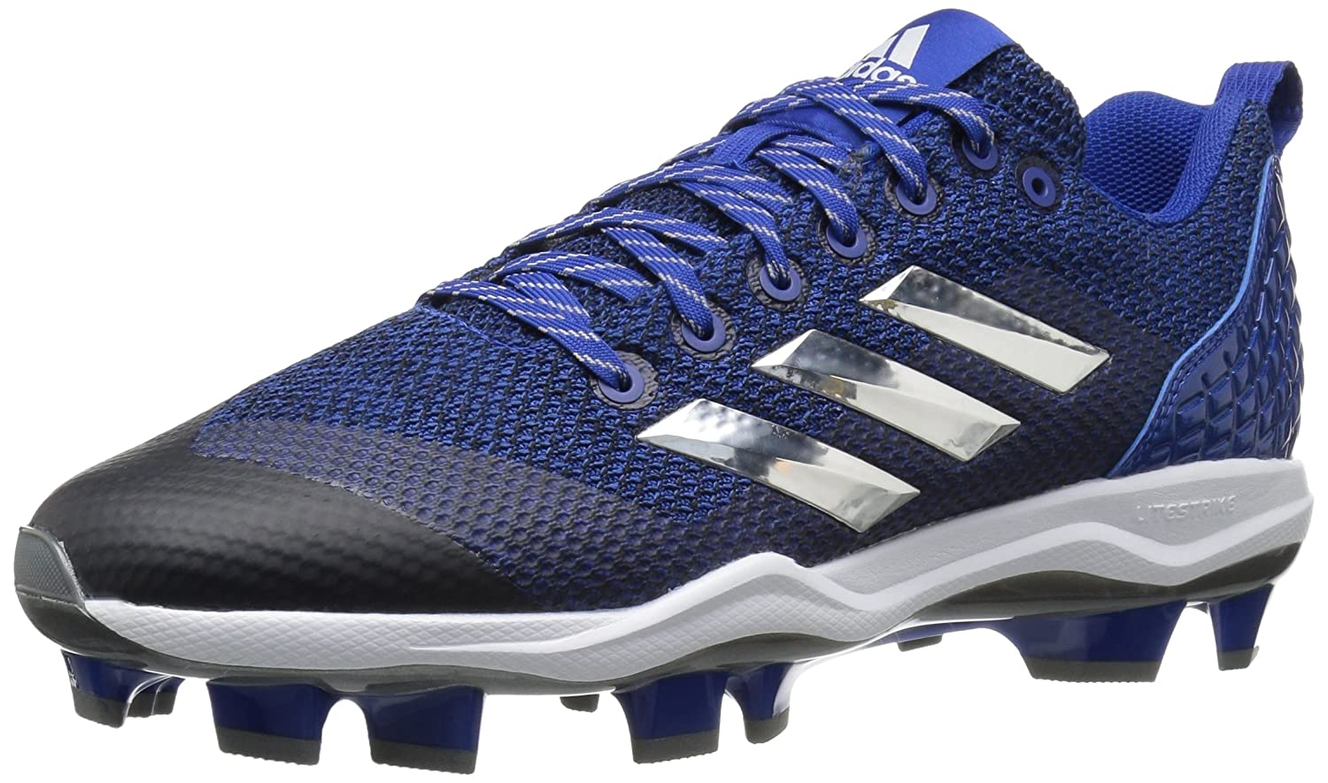 adidas Performance メンズ PowerAlley 5 TPU B01MZ20SG2 11 Medium US|Collegiate Royal/Metallic Silver/White Collegiate Royal/Metallic Silver/White 11 Medium US
