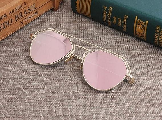 LQABW Neue Sonnenbrille Hohle Runde Gesicht Polygon Personalisierte Sonnenbrillen Für Männer Und Frauen,Type2