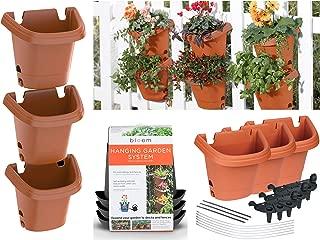 product image for Bloem, Terra Cotta Hanging Garden Planter System 3 Pack, (482121-1001)