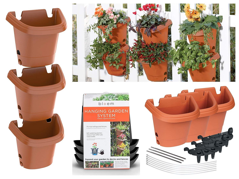 Bloem Hanging Garden Planter System 3 Pack, Terra Cotta 482121-1001