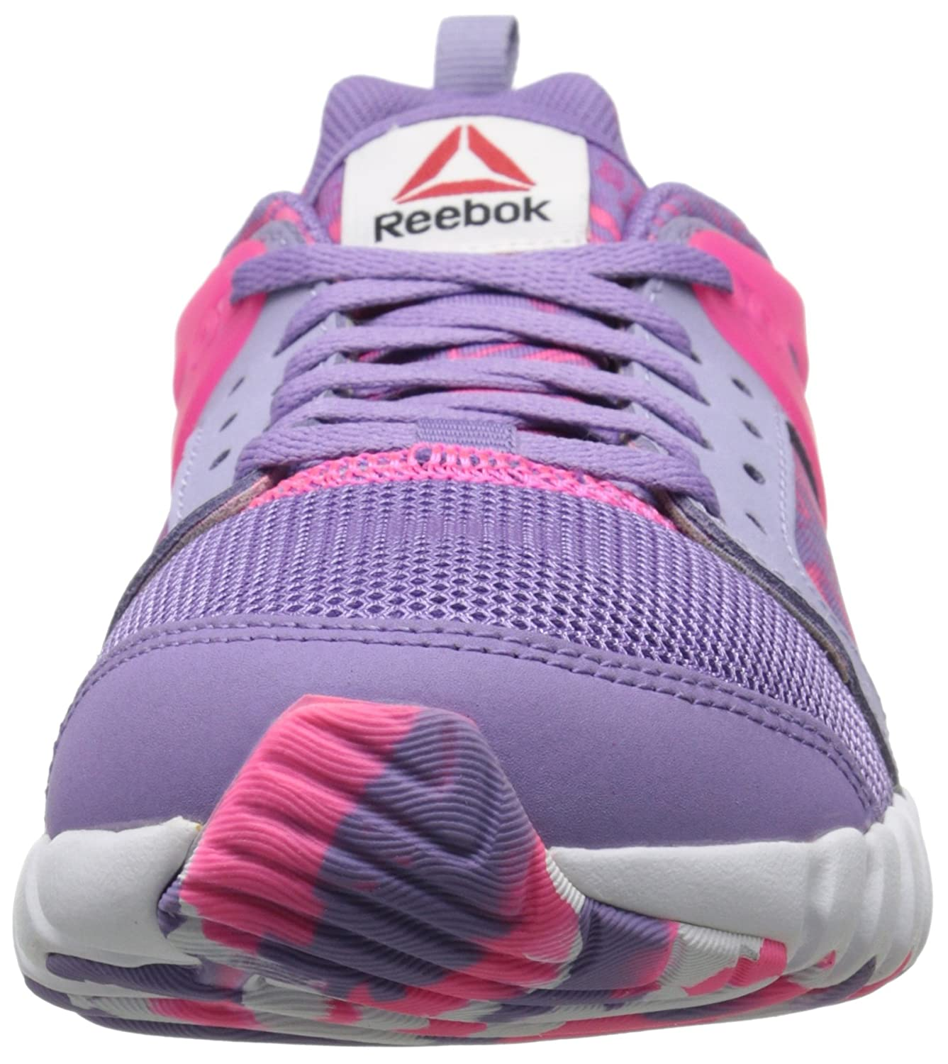 Amazon.com | Reebok Girls Twistform 2.0-K, Grey/Smoky Moon Violet/Solar Pink/White, 4.5 M US Big Kid | Running
