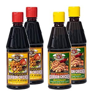 Bourbon Chicken Grill n' Dipping Sauce + Marinade Mixed Pack | Starter Kit To Make Authentic Food Court Restaurant Bourbon Chicken Flavor | Great Value & Gourmet Food Gift | Easy To Follow Recipes