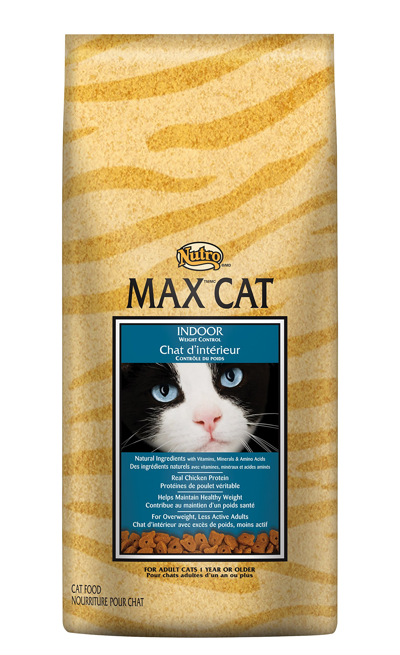 Nutro Max Cat Indoor Adult Dry Cat Food, Weight Control, (1)16 Pounds; Rich In Nutrients And Full Of Flavor; Supports Healthy Joints & Healthy Skin And Coat by Nutro