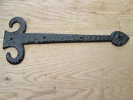 In 2 sizes CAST IRON FLEUR DE LYS DECORATIVE FANCY GOTHIC TUDOR GATE DOOR HINGES