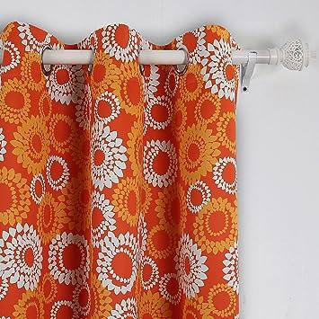 panels dp pattern quot curtains drapes castle blackout polyester com fiber amazon fujinet