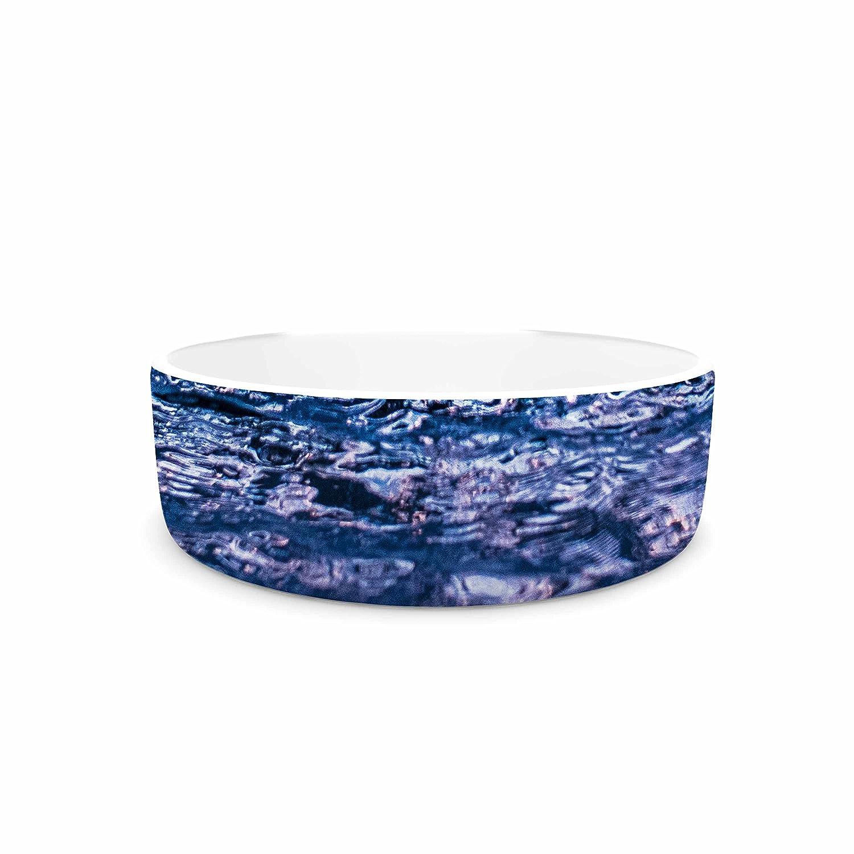 KESS InHouse Colin Pierce Falling Sky bluee Lavender Photography Pet Bowl, 7  Diameter