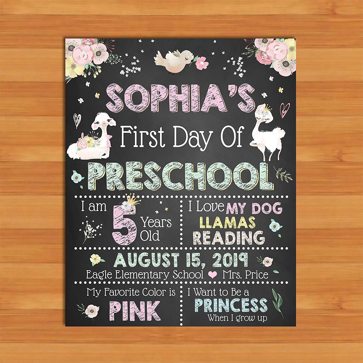 First Day Of School Sign Chalkboard Style 1St Grade Plaque Back To School Sign