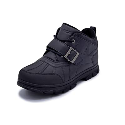Nautica Men's Grimstead Lace Up Buckle Duck Toe Winter Ankle Snow Boots | Snow Boots