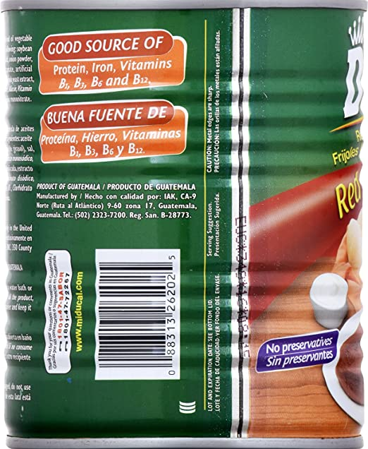 Amazon.com : Goya Ducal Red Refried Beans, 29 Ounce (Pack of 12) : Grocery & Gourmet Food