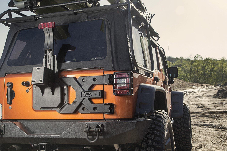 Amazon.com: Rugged Ridge 11546.50 HD Tire Carrier Kit For Jeep JK Wrangler  Or 2007 2018 Jeep Wrangler JK And JKU: Automotive