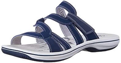 Clarks Women's Brinkley Lonna Fisherman Sandal, Navy, ...