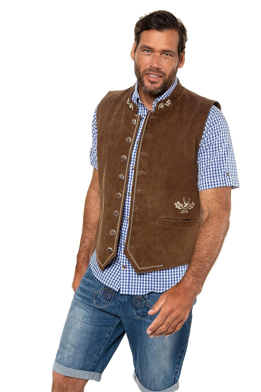 JP 1880 Homme Grandes Tailles Veste sans Manches Style Bavarois Marron 5XL 723464 30-5XL