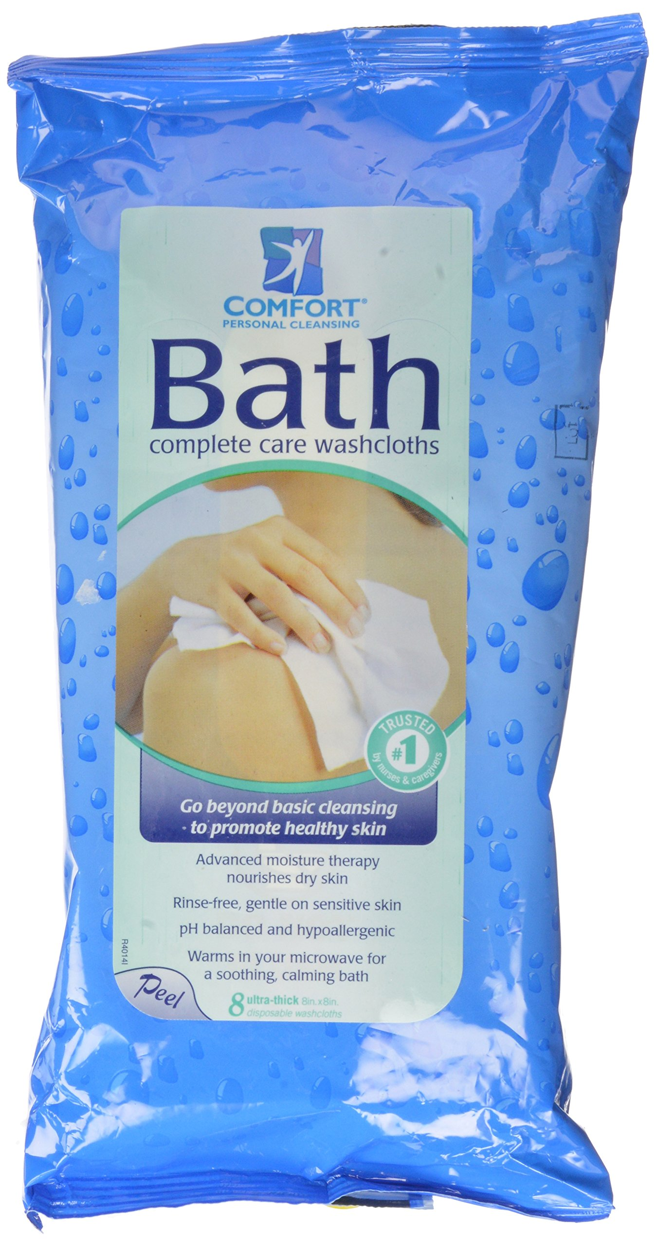 Comfort Bath! Personal Cleansing, Ultra-Thick Disposable Washcloths, 8 ea pack of 2 by Comfort Bath
