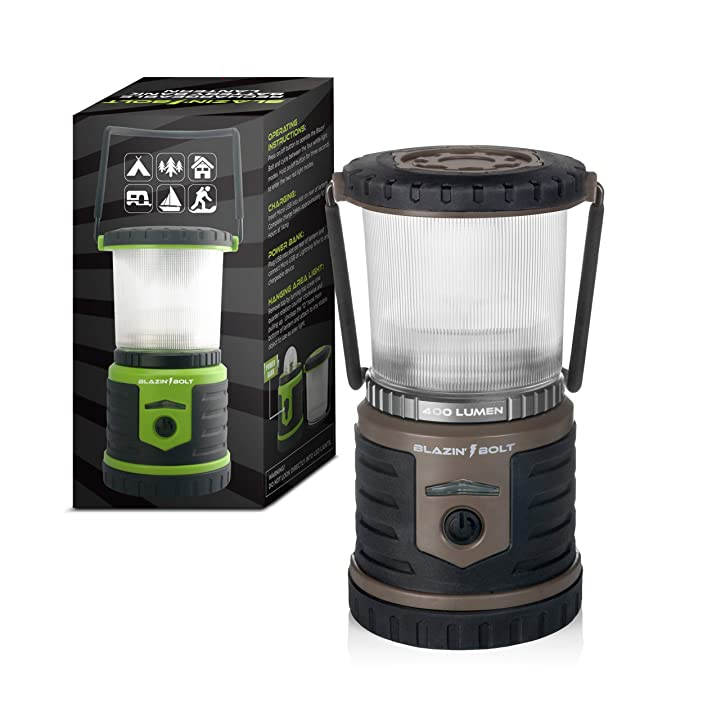 Brightest LED Rechargeable Lantern | Hurricane, Camping, Storm | Power Bank Light | 400 Hour Runtime
