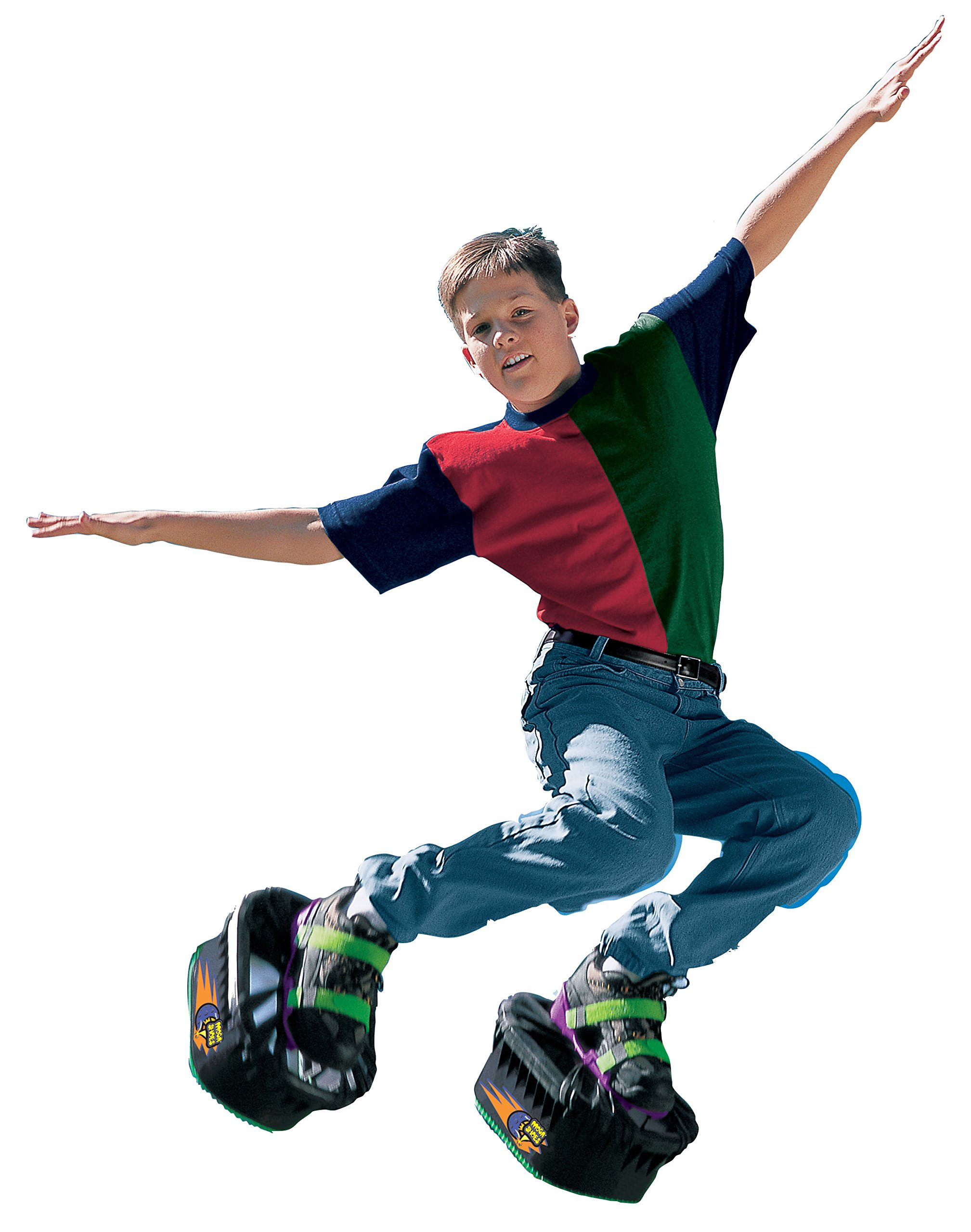 Big Time Toys Moon Shoes Bouncy Shoes - Mini Trampolines For your Feet - One Size