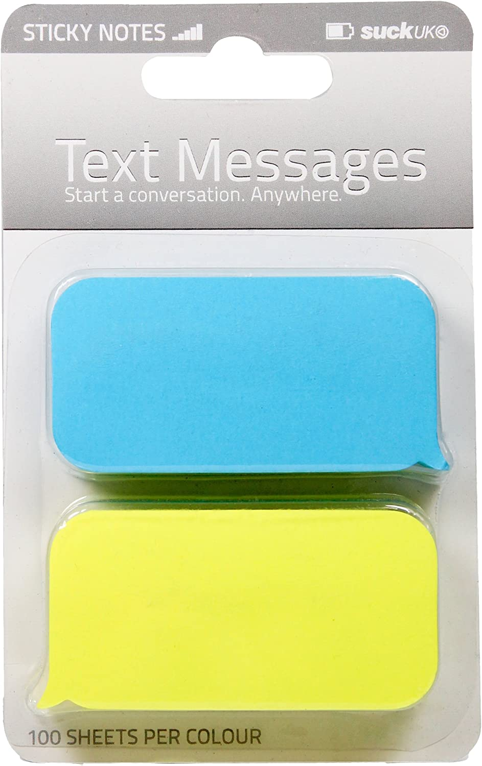 SUCK UK Text Message Shaped Sticky Notes