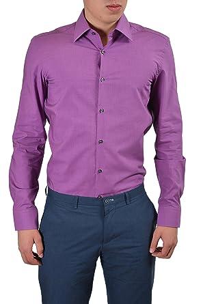 7f197782e Image Unavailable. Image not available for. Color: Hugo Boss C-Jacob Men's  Purple Slim Fit Button Down Dress ...
