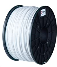BuMat ABS 1.75mm, 1kg, 2.2lb White Filament Printing Material Supply Spool for 3D Printer ABSWH