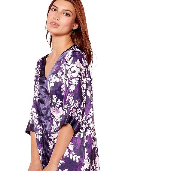Debenhams The Collection Womens Purple Floral Print  Mystry  Satin Kaftan   The Collection  Amazon.co.uk  Clothing 2c7523fac