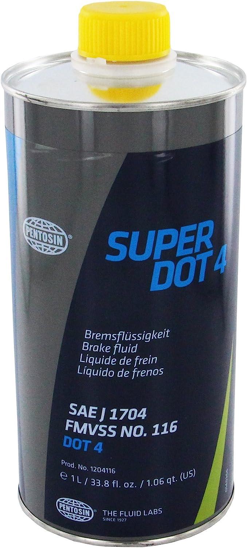 Pentosin 1204116 Super Dot 4 Brake Fluid, 1 Liter