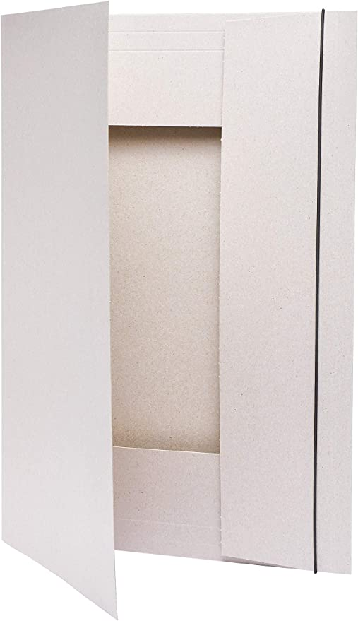 mit Band grau 1 Stück folia 6902 Sammelmappe DIN A4 Graupappe 500g//m²