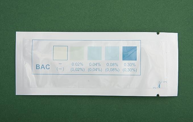 Alcohol pruebas (saliva) 2 tiras de prueba: Amazon.es: Salud ...
