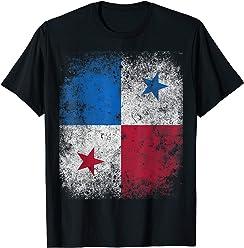 Panama Flag Vintage Distressed Grunge T-Shirt