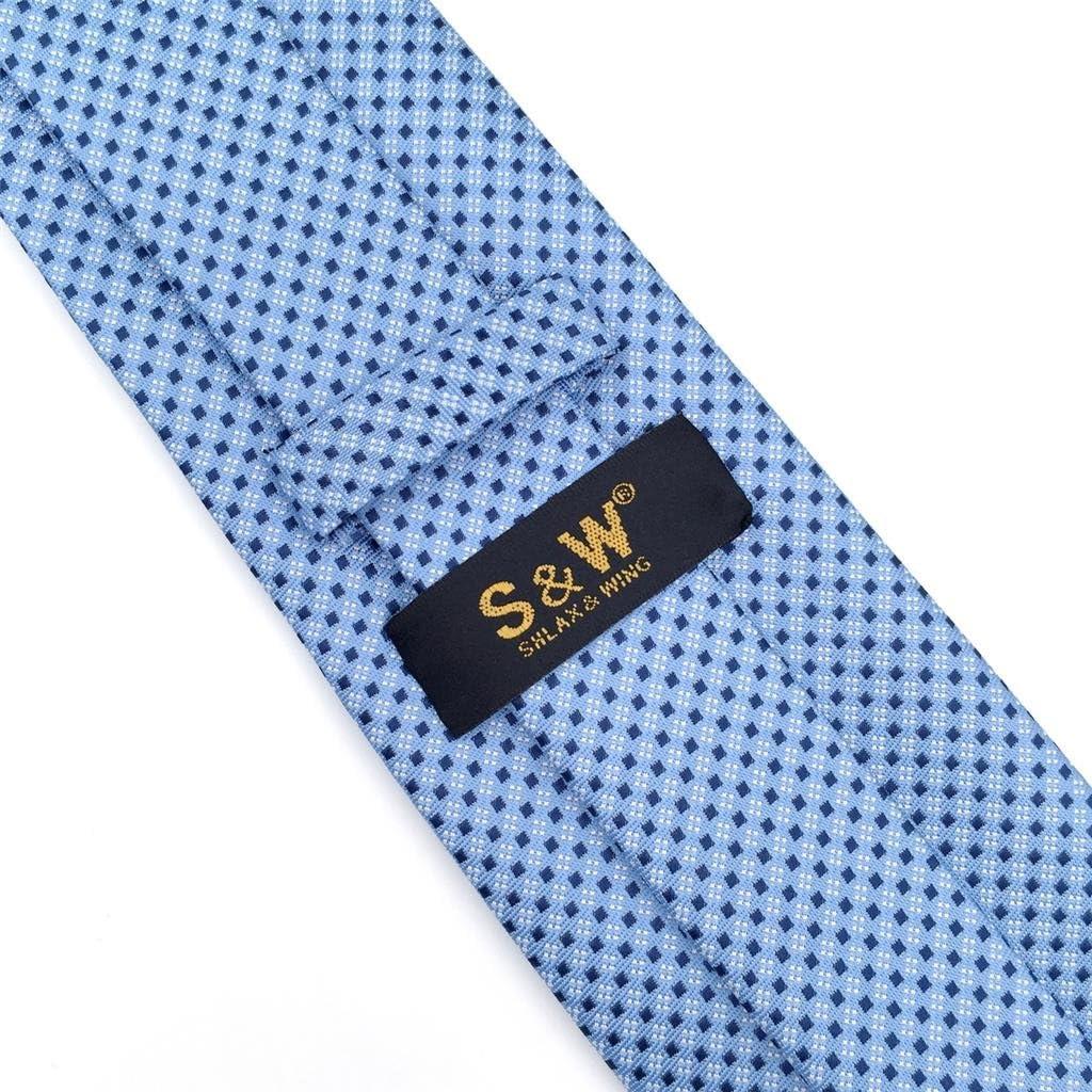 S/&W SHLAX/&WING Herren Krawatte Blau Punkte Gesch/äftsanzug Seide Suit