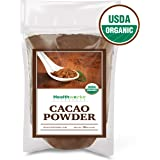 Healthworks Cacao Powder (16 Ounces / 1 Pound) | Cocoa Chocolate Substitute | Certified Organic | Sugar-Free, Keto, Vegan & Non-GMO | Peruvian Bean/Nut Origin | Antioxidant Superfood