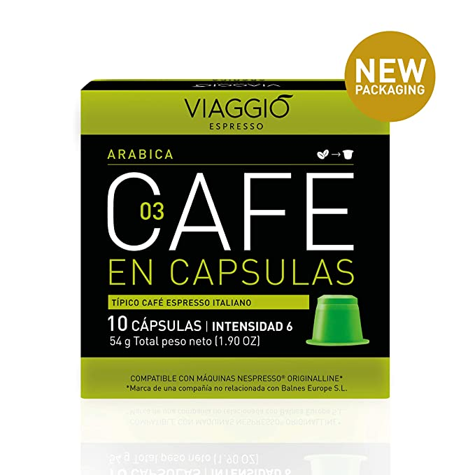 VIAGGIO ESPRESSO - 60 Cápsulas de Café Compatibles con Máquinas Nespresso. (ARABICA)