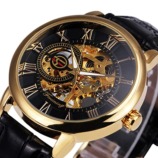 black watches roman reign skeleton mens kahn leather numeral strap men watch s