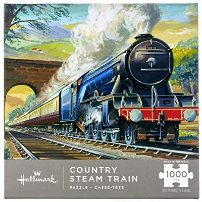 Country Steam Train Puzzle: Toys & Games